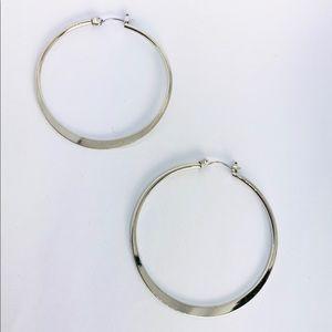 New! Silver Hoop Earrings